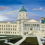 Original painting of the Kansas State Capital in Topeka