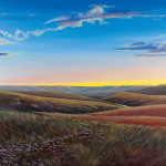Original painting of sunset over the scenic Flint Hills