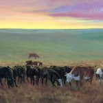 Herd Under Watch Painting
